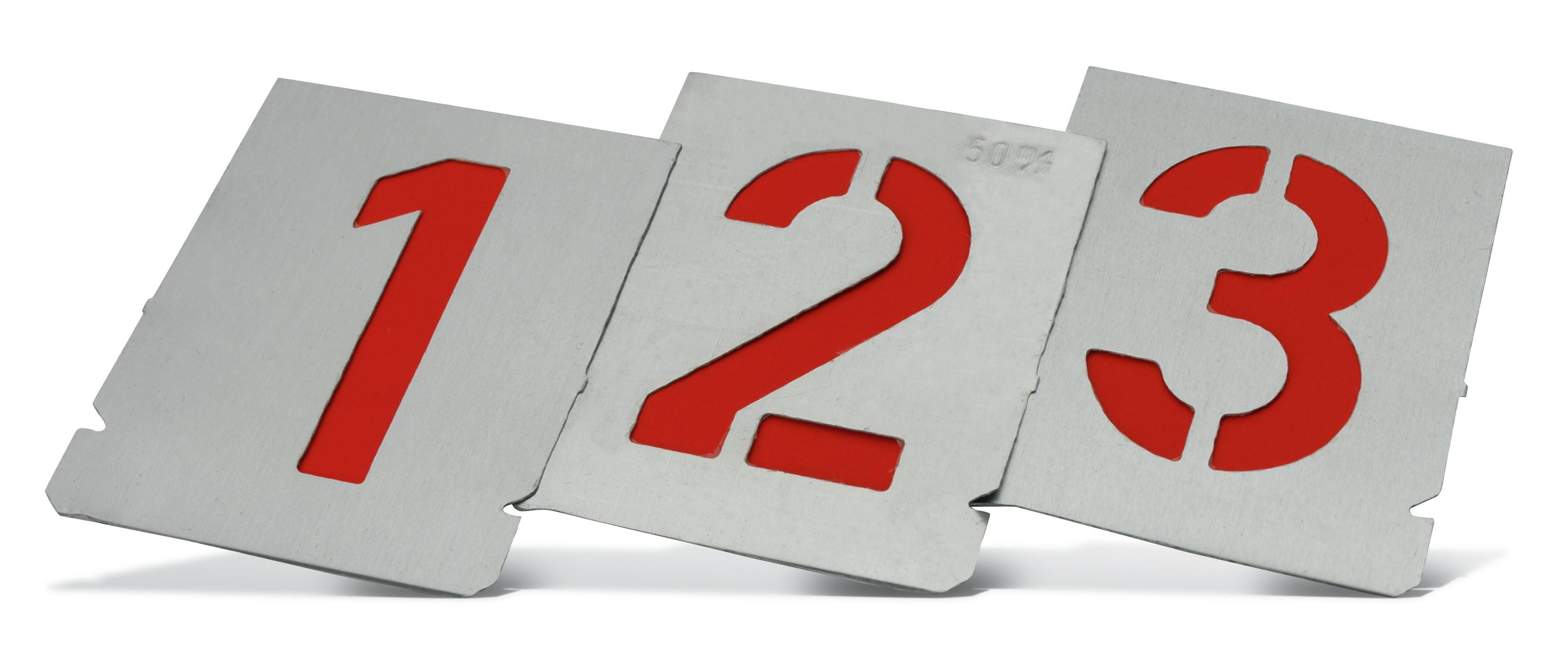 Metal number stencils Pajarito