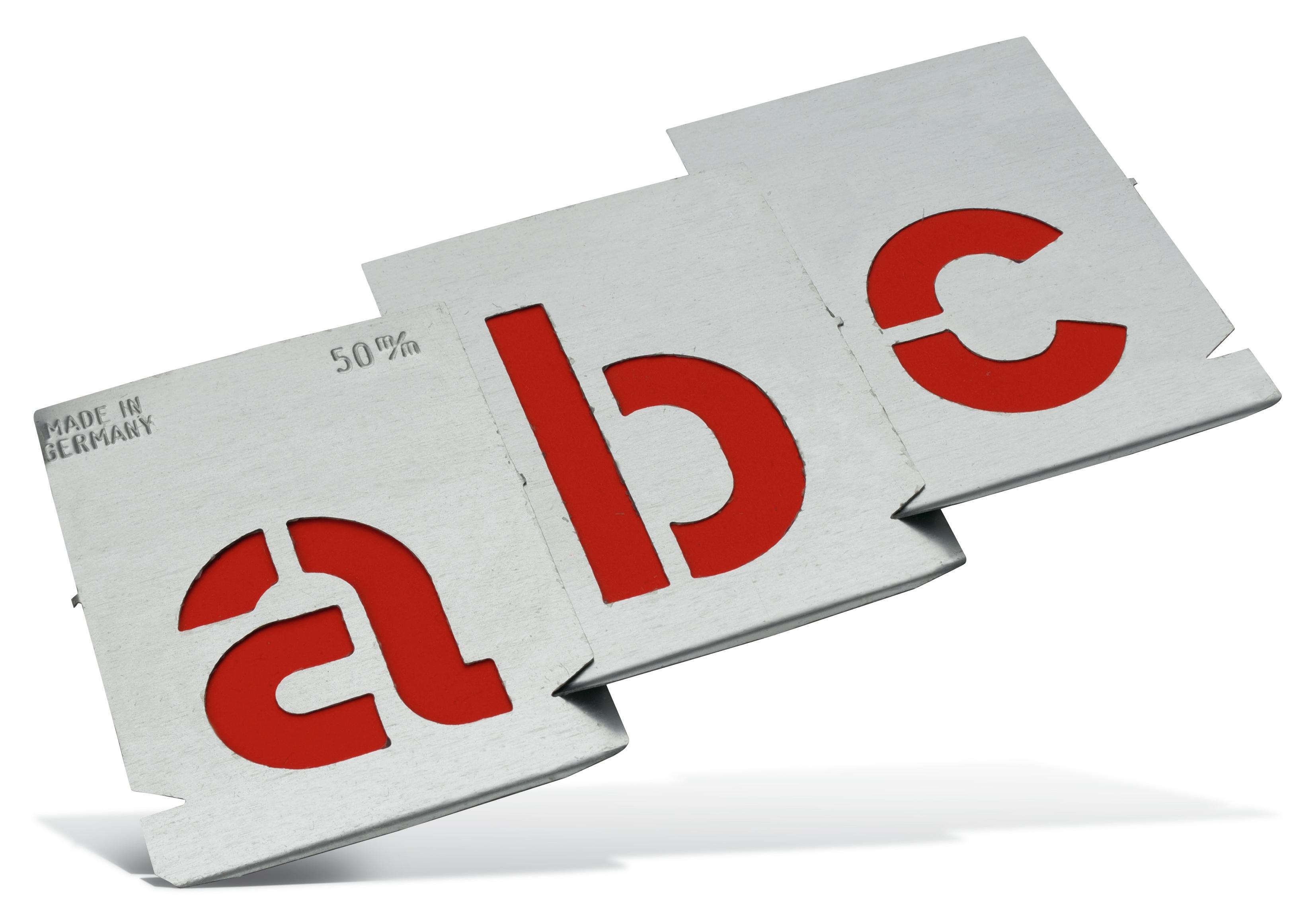 Metal letter stencils Pajarito